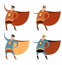 Set of superheroes vector
