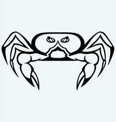 Silhouette crab vector image