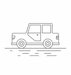 Small car line icon vector