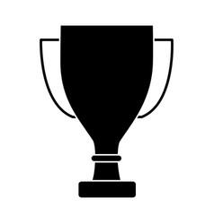trophy award cup pedestal icon vector image