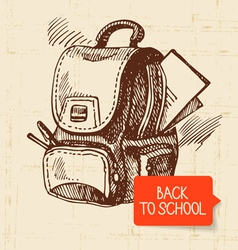 Vintage hand drawn back to school vector