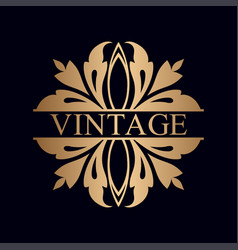Vintage ornamental logo vector