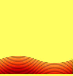 Wavy abstract background from layer stripes vector