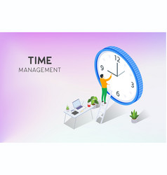 Work time management with character vector