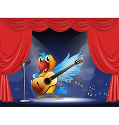 A bird performing above the stage vector image vector image