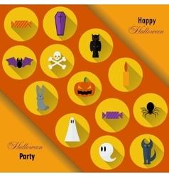 Halloween Background Flat vector image vector image