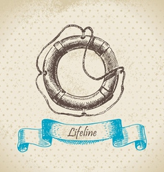 Lifeline hand drawn vector image vector image
