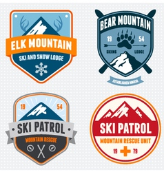 Ski badges vector image vector image