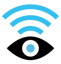 Spy WiFi icon vector image