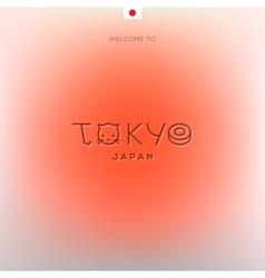 World Cities labels - Tokyo vector image