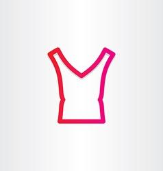 female blouse icon design vector image
