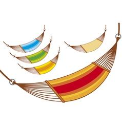 hammock set vector image vector image
