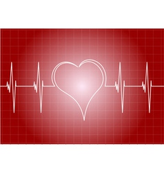 heart diagram with line heart vector image vector image