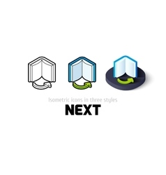 Next icon in different style vector image vector image