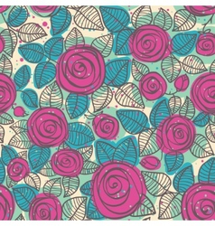 Abstract seamless pattern of roses vector image