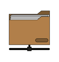 colorful graphic office folder with documents vector image vector image
