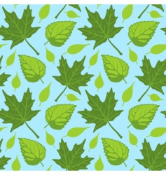 summer leaves seamless vector image