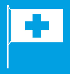 switzerland flag icon white vector image vector image