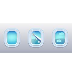 Aircraft Windows airplane windows vector image