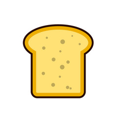 bread toast slice icon breakfast protein rich vector image