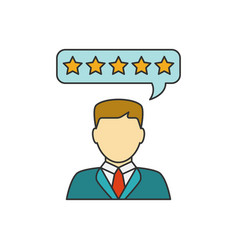customer reviews line icon vector image