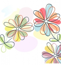 floral pastel vector image