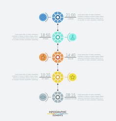 infographic design layout 5 multicolored round vector image vector image