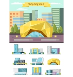 Shopping Mall Orthogonal Concept vector image vector image