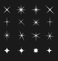 twinkling star set bright on black vector image