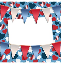 usa greeting card vector image vector image
