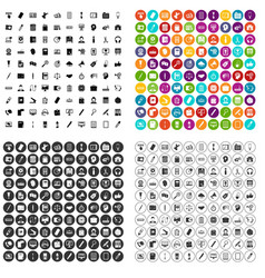 100 office work icons set variant vector image