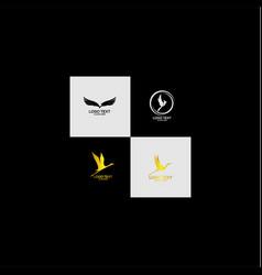 abstract bird logo design vector image