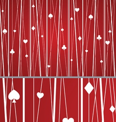 Abstract Seamless Poker Pattern Red vector image