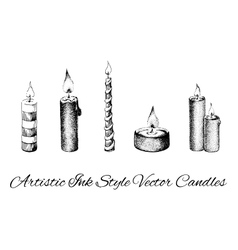 candles engraving vector images over 180