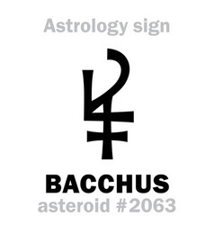 Astrology asteroid bacchus vector