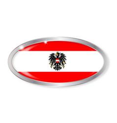 Austrian flag oval button vector
