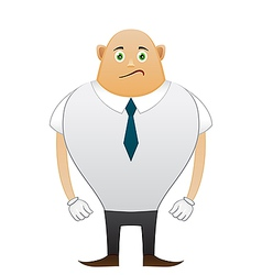 Bald sorrow office man vector