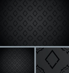 Black Vintage Poker Diamond Distressed Background vector image