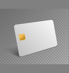 Blank credit card white realistic atm card vector