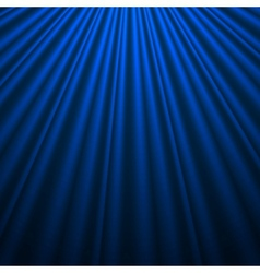 Blue silk background vector