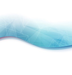 Blue wave geometrical abstract background vector