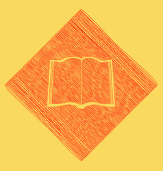 book sign red scribble icon obtained as a vector image