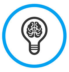 Brain bulb rounded icon vector