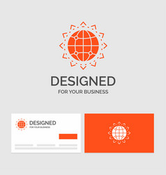Business logo template for world globe seo vector
