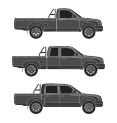 car pickup truck vector image