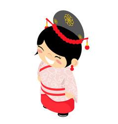 cheongsam folk silk dress wear costume traditional vector image