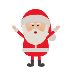 color silhouette of santa claus with open arms vector image