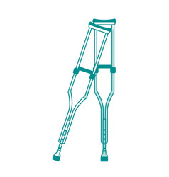 Crutches healthcare related icon image vector