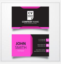 Cv resume business card template vector