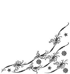 deco flower vector image